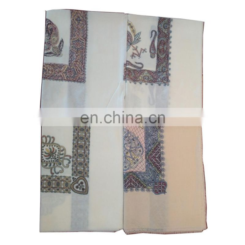 Wholesale Hot Selling Cheap High Quality Printed Fashion Men Polyester Scarf