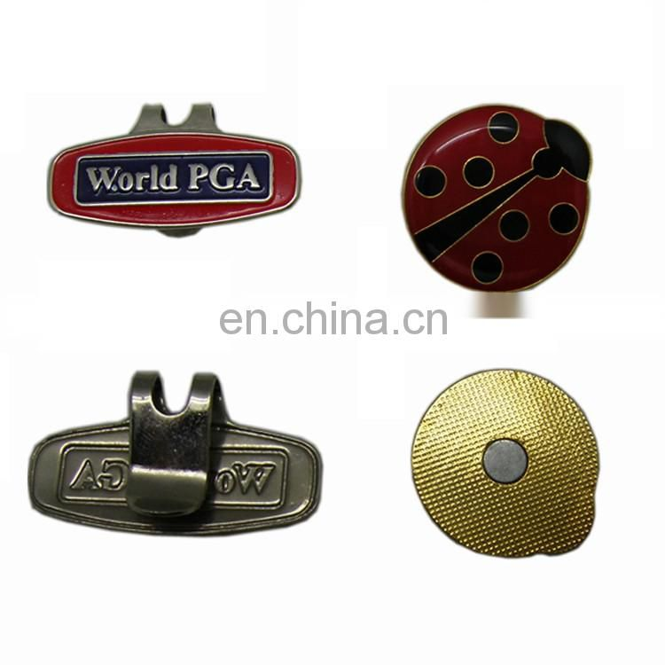Factory supply metal golf accessories with hat clips