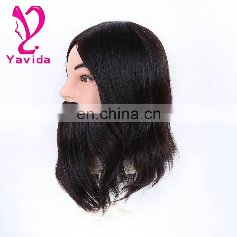 practice head training head for barber with beard Salon mannequin heads cabelo humano natural