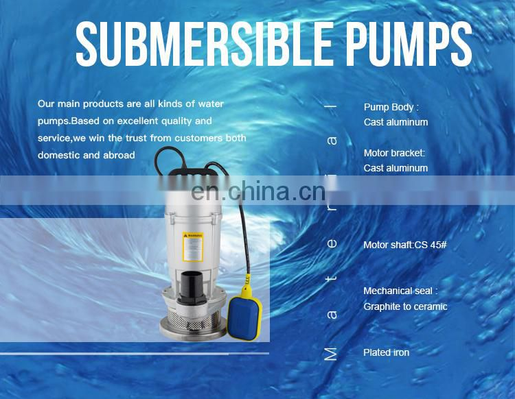 Portable aluminium house water submersible pump list