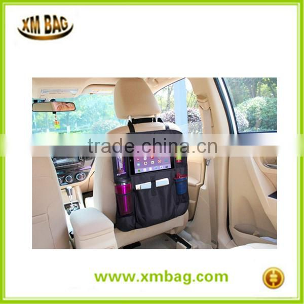 Car Back Seat Organizer with Tablet Holder - Touch Screen Pocke Multipurpose Use as Auto Seat Back Protector, Kick Mat