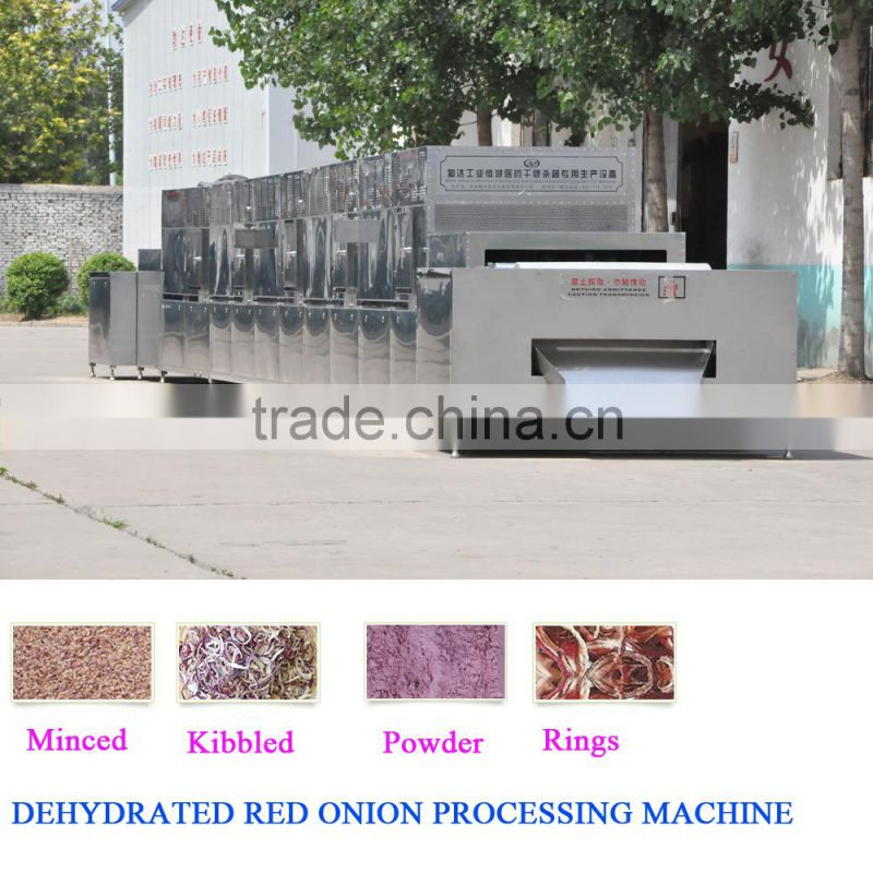 Meeting European Quality Standard onion powder plant microwave drying machine