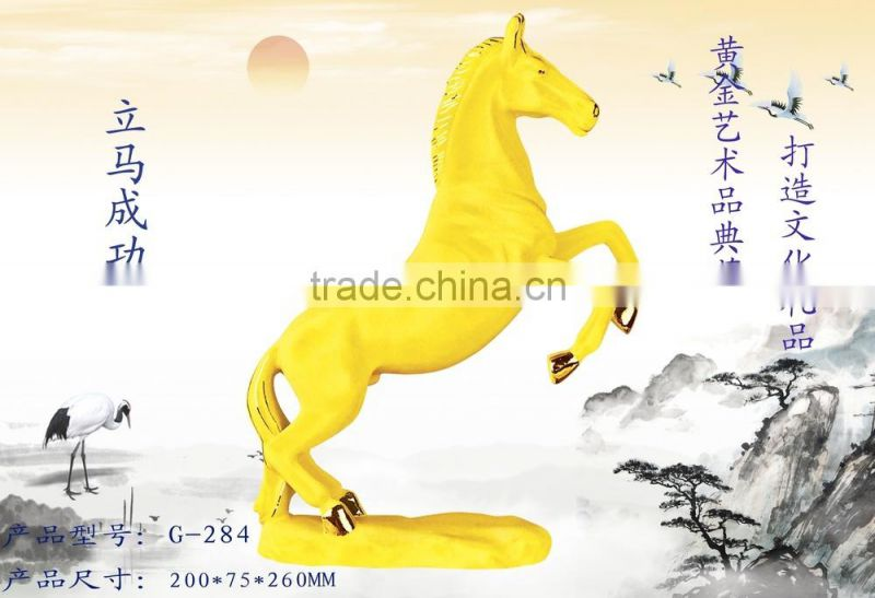 New design 24k Gold Plated horse figurines