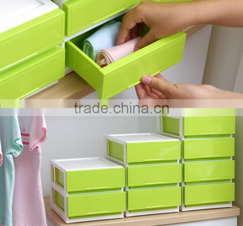 3 layer new plastic printed drawer storage cabintes