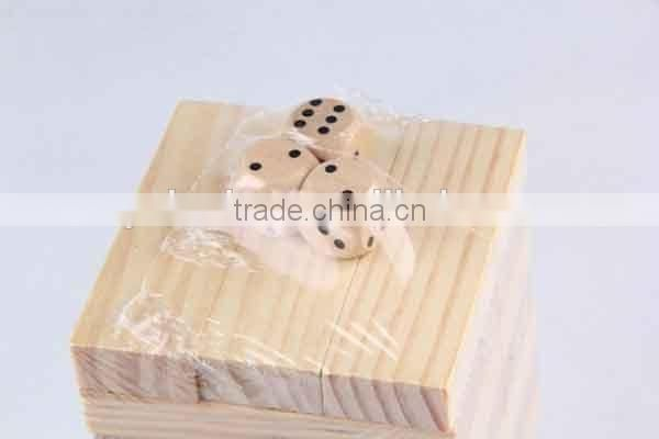 48PC Wooden /Stack Game With Three Dice Building Block/Board Game