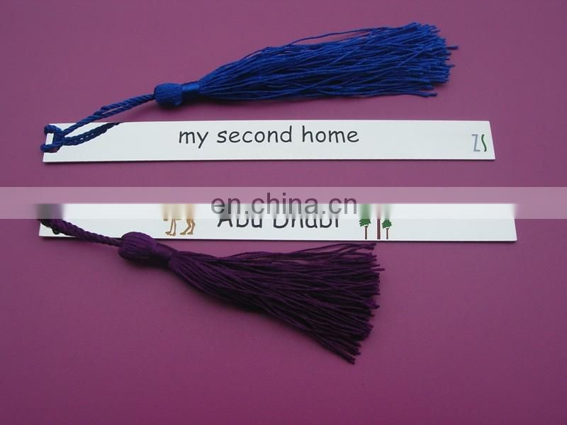 Abu Dhabi logo rectangle bookmarks with tassels