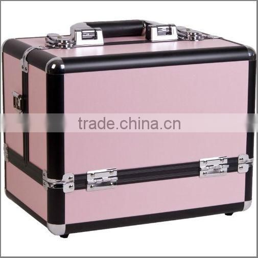 12 inch Color Panel with Black Trim Travel Cosmetic Organizer Makeup Artist Train Case ZYD-HZ99