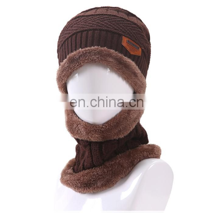 0e4011b6a57a5 ... Newest knitted winter beanie hat and scaf for men Warm Moto Sports Ski  Wool Winter Bonnet