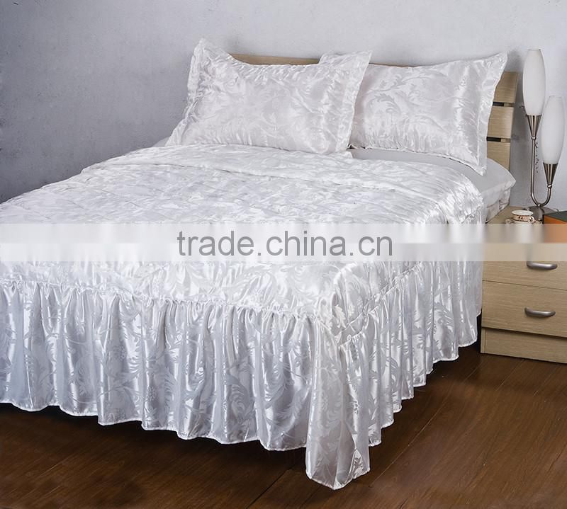 4PCS Factory Wholesale Cheap Price Faux Silk Fabric Bed Sheet/Bedding On Sale
