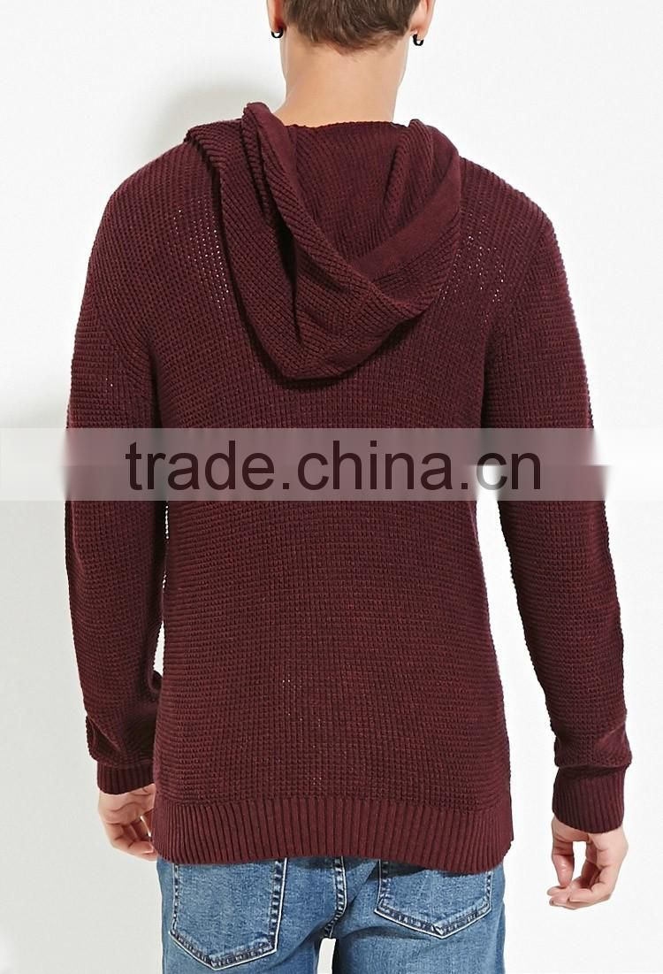Spring Men' Cheap Pajama Top Hooded Cotton Knit Tee Shirts