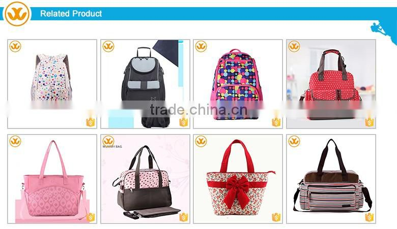 2016 New design wholesale baby diaper outdoor travel mommy bag