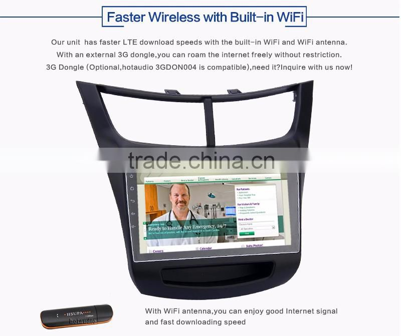 9 Inch 2 din 1.6GHz obd2 Android car gps dvd player with Capacitive Multi touch Screen for CHEVROLET sail 2015 2016