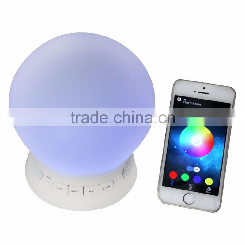 Romantic Bedroom Night Light Mini Portable Wireless Bluetooth Led speaker With Clock Display