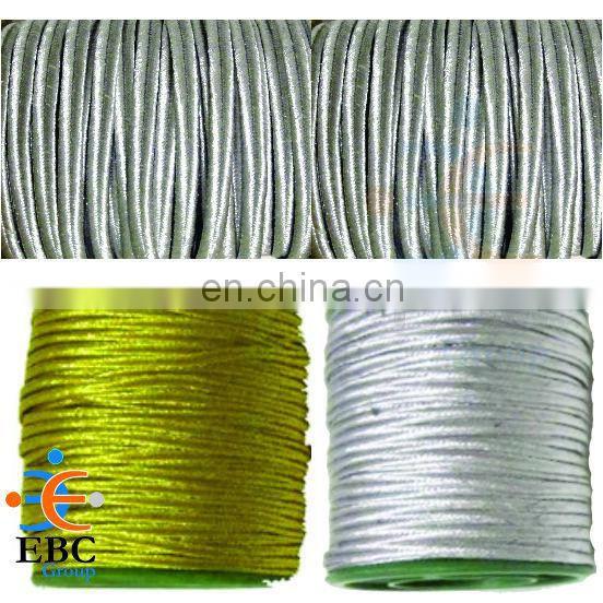 Soutache Cord Silver or Gold Metallic 1 m width 5 mm