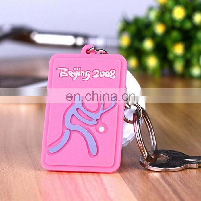New Product Silicone Keychain Best Quality Nice Design Cartoon Character Rubber Keychain
