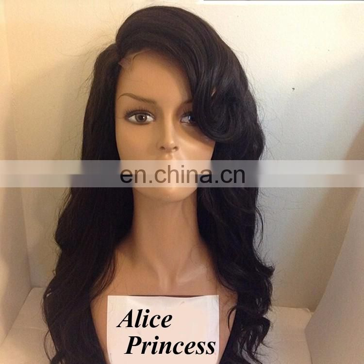 Alice Princess Hair Products Virgin Brazilian Human Hair Wig Natural Loose Wave Front Lace From China Best Lace Wigs Factory