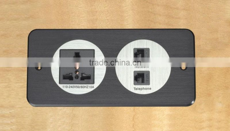 Hot Sale electrical Power Socket wall plate media hub