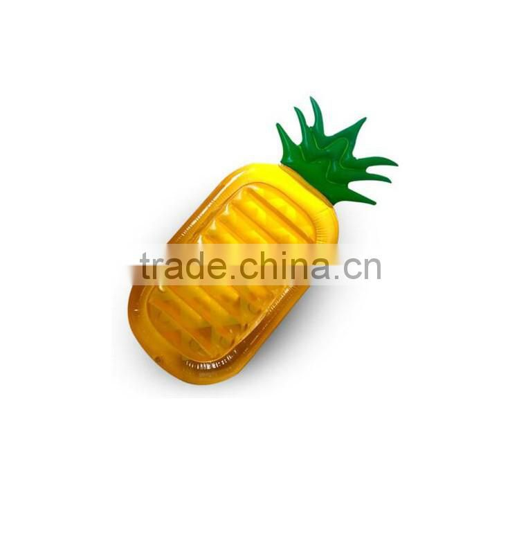 New design hot sale yellow giant inflatable pineapple pool float lounge