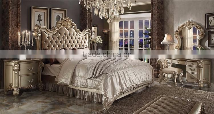 Beautiful American Modern Style Royal Furniture Antique Arabic Bedroom Sets