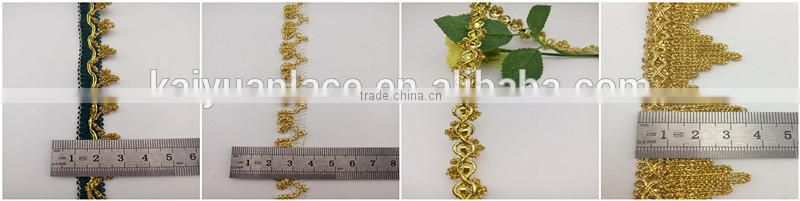 lantern yarn golden beaded bordering ornament fashion braid trim