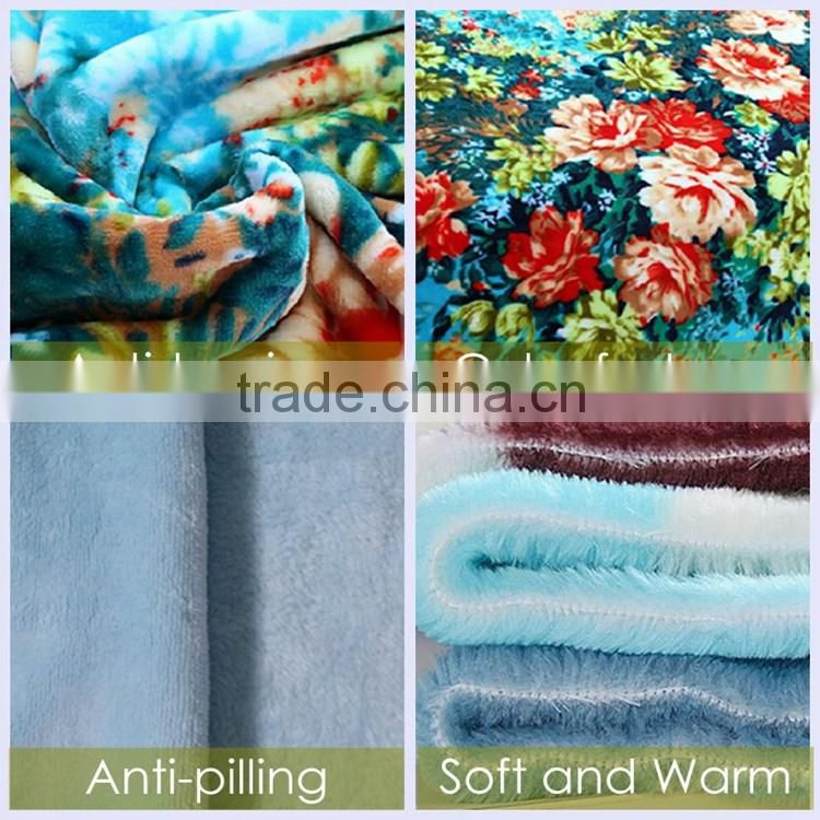 China Manufacturer Super Soft And Comfortable Customized Print Polyester Flannel Blanket