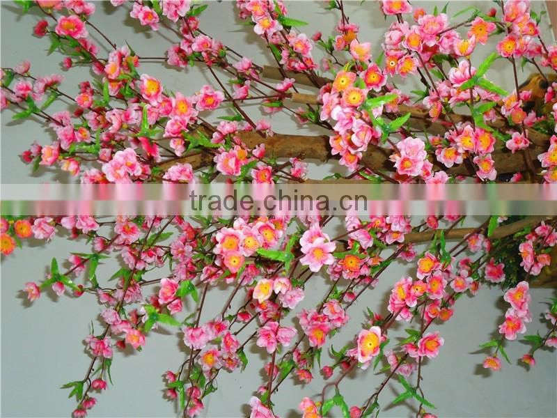 Fire Proof Artificial Mini Peach Blossom Tree Potted Plant for Festival Decoration Factory Direct LGH15-04