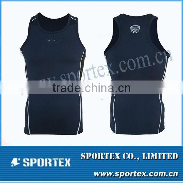 OEM compression gear / sleeveless compression top / customed men's compression shirt