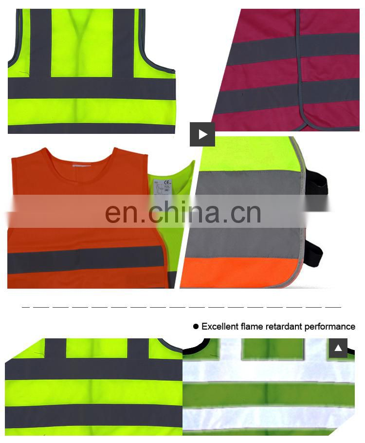 High visibility safety clothing safety vest for children