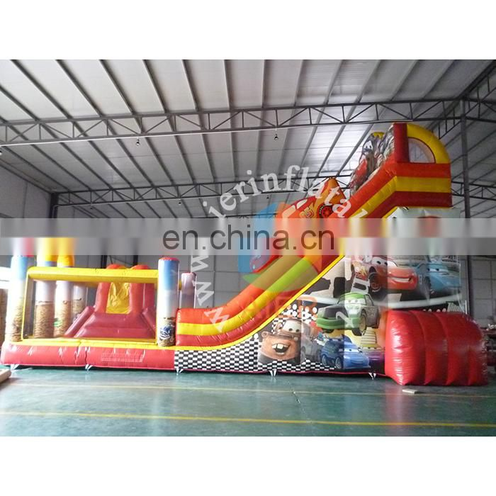 Good price inflatable car dry slide, Giant Inflatable cars bouncer slide game for kids