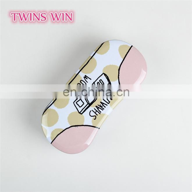 Professional Factory Made 2018 High-end luxury Kawaii Cartoon Metal folding eyeglasses soft case box