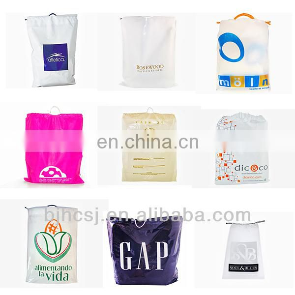 cheap shopping plastic bag wave top handle manufacturers