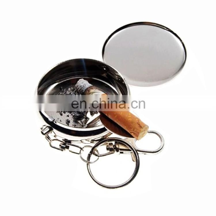Custom metal aluminum ashtray portable pocket ashtray