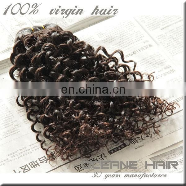 Cheap high quality one donor raw unprocessed fake black with curly hair