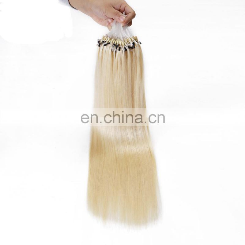 wholesale platinum blonde micro ring hair extensions cheap indian human hair extension