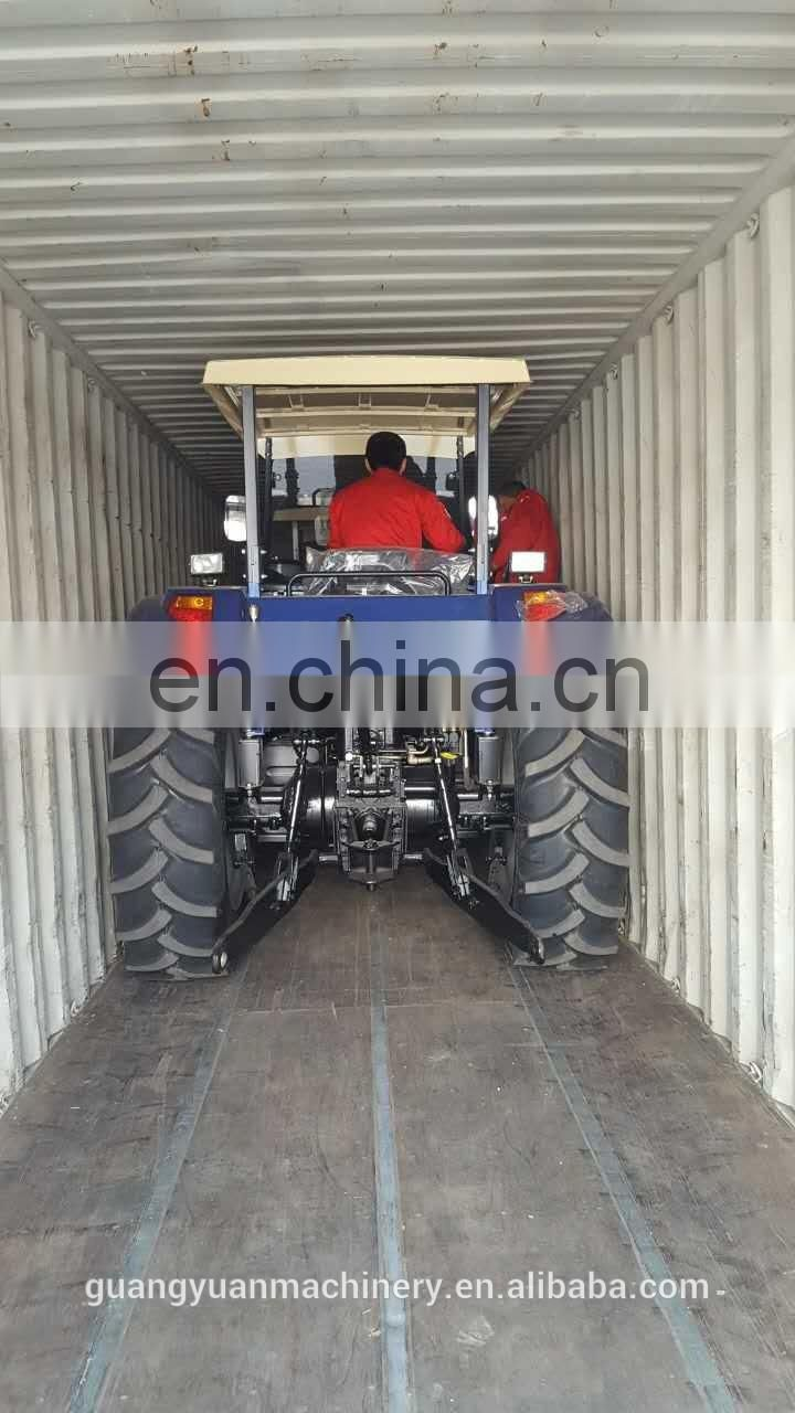 90HP 4x4 Farm Tractor with farm tools made in China