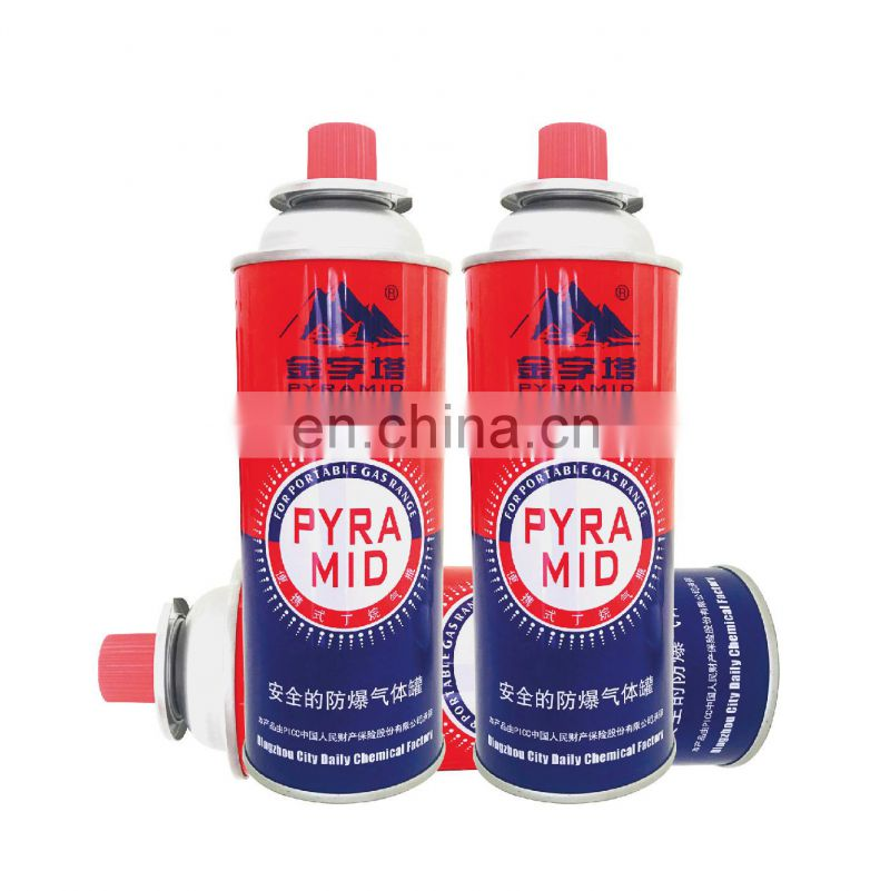 Hebei camping gas butane canister refill 220g and tinplate BBQ butane gas cartridge Image