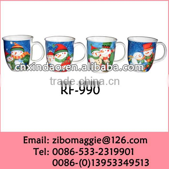 Zibo Made Personalized Wholesale X'mas Style Porcelain Beer Mugs Promotional with Good Quality