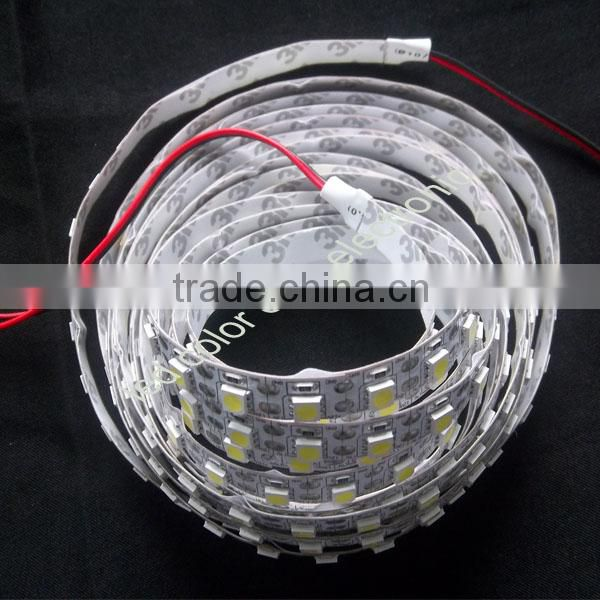white 5500k led flexible strip light 3528 waterproof