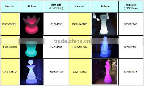 Computer Control LED Decorative Party Use Chess RGB Colors Illuminated LED Light Bishop