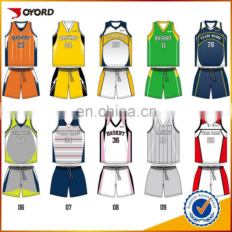 5c9a86a4086 2017 best sublimation 100% polyester basketball jersey custom logo design  latest basketball jersey Image