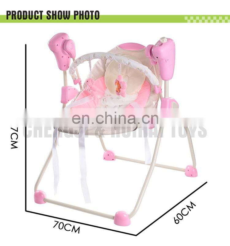 2015 new Comfortable infant swing multifunctional electric baby rocker