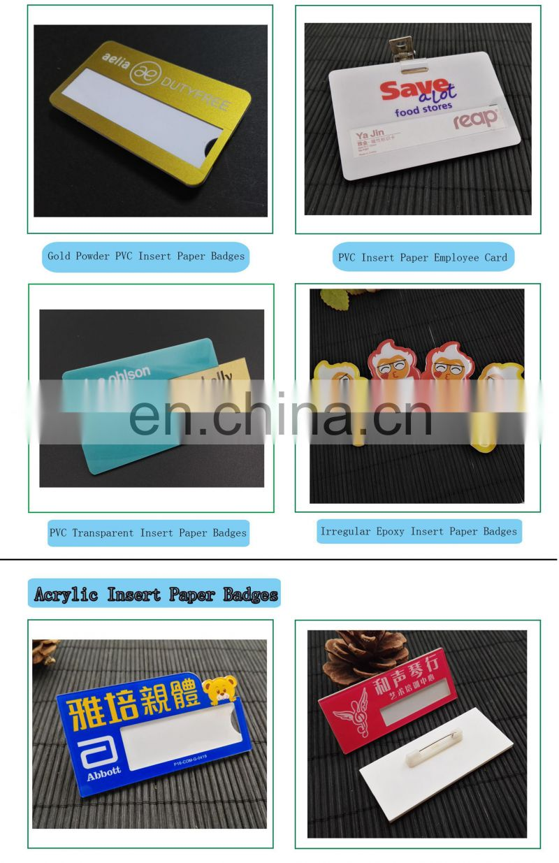 Customized Top Quality Full Color Printing Badge With Low Price