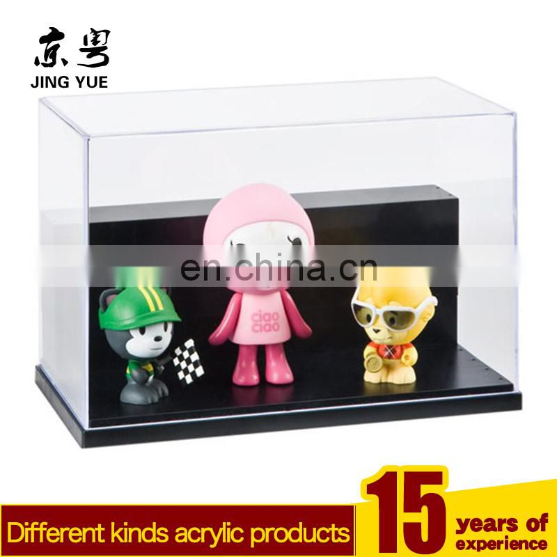 Fashion square transparent pmma plexiglass acryilc toy display box case