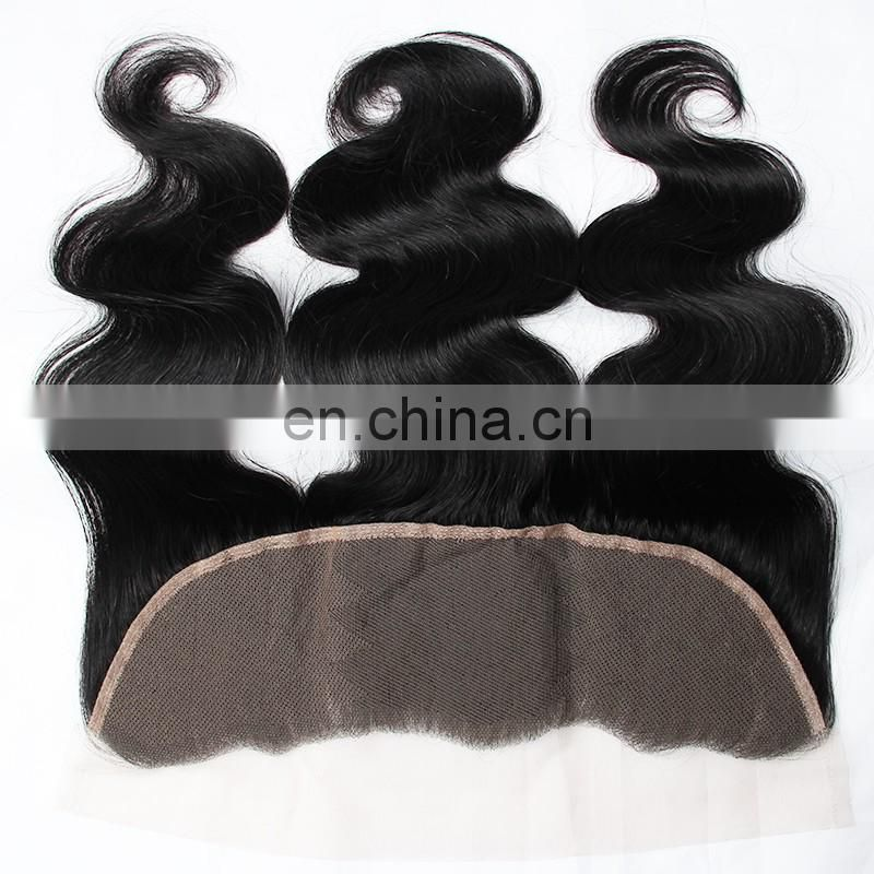 human hair transparent lace frontal piece ear to ear frontal lace closure with bundles