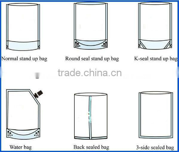 three side seal plastic packing bag with air hole, hook and zipline, tearnotches, handlehold for underwear
