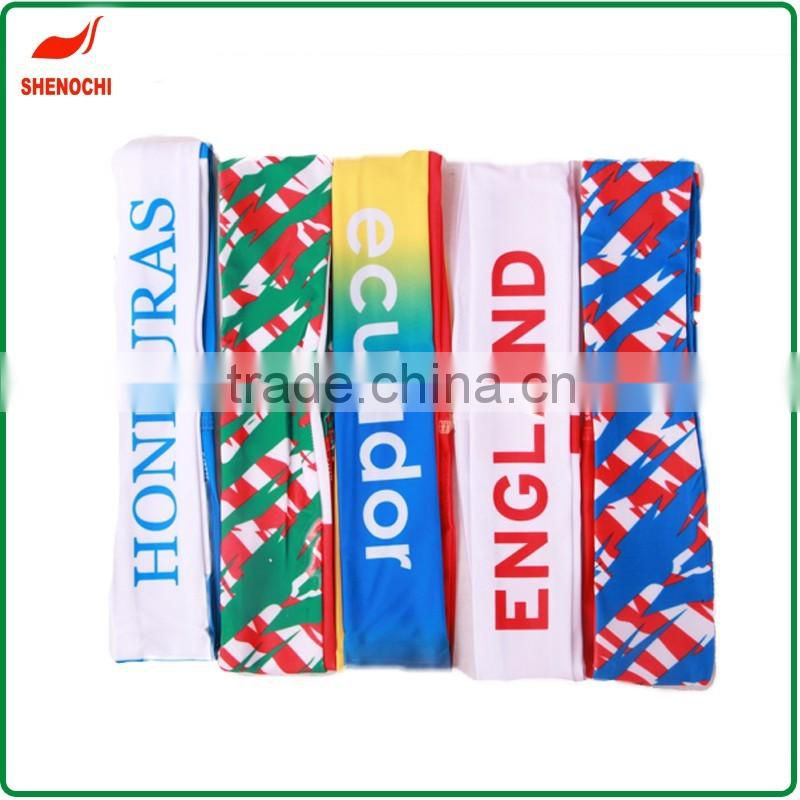 Custom running head band elastic country flag printed sports headband