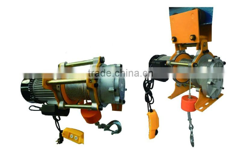 Portable electric hoist winches with remote control