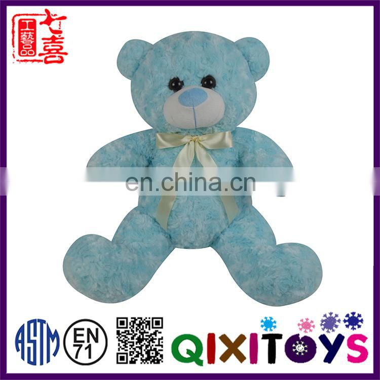 Professional customized various designs plush blue teddy bear for sale