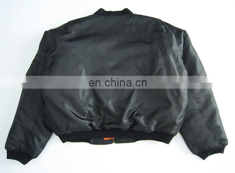 Top quality long sleeve flight army jacket light military