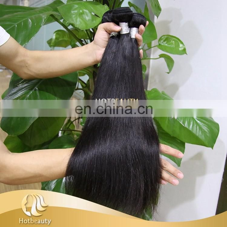 Fast Delivery Virgin Human Hair Extensions Natural Black Silky Straight For Black Girls